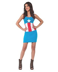 BuySeasons Women's Avengers Captain America Tank Dress Adult Costume