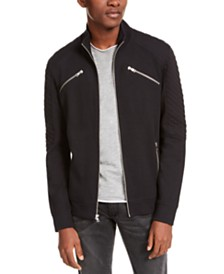 I.N.C. Men's Ribbed Quilted-Sleeve Jacket, Created For Macy's