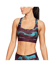 Women's Armour Mid Crossback Print Sports Bra