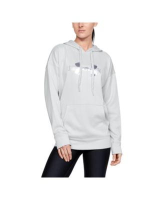 grey under armour hoodie women's