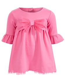 Baby Girls Ponté-Knit Bow Dress, Created For Macy's