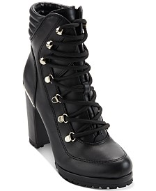 DKNY Women's Lenni Lace-Up Booties , Created For Macy's