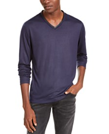 I.N.C. Men's V-Neck Long-Sleeve T-Shirt, Created For Macy's