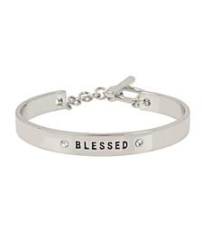 Rose Gold 'BLESSED' Affirmation Toggle Bracelet