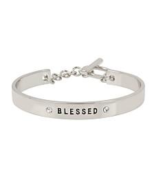 BCBGeneration Rose Gold 'BLESSED' Affirmation Toggle Bracelet