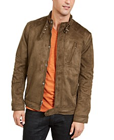 INC Men's Faux Suede Jacket, Created For Macy's