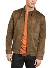 I.N.C. Men's Faux Suede Jacket, Created For Macy's