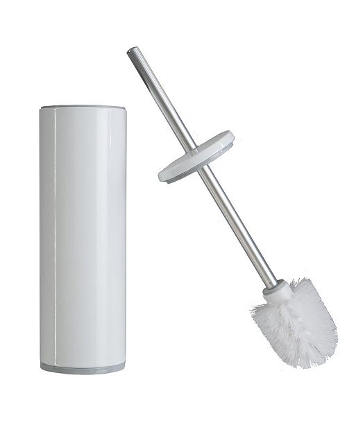 Bath Bliss Modern Aluminum Deluxe Stainless Steel Toilet Brush with Removable Liner