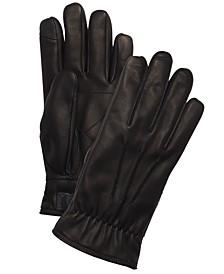 Men's Leather Fleece-Lined Gloves