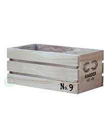 Gardenised Distressed Wood Crate Planter - Small