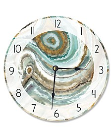 """Stupell Industries Abstract Geode Teal and Copper Vanity Clock, 12"""" x 12"""""""
