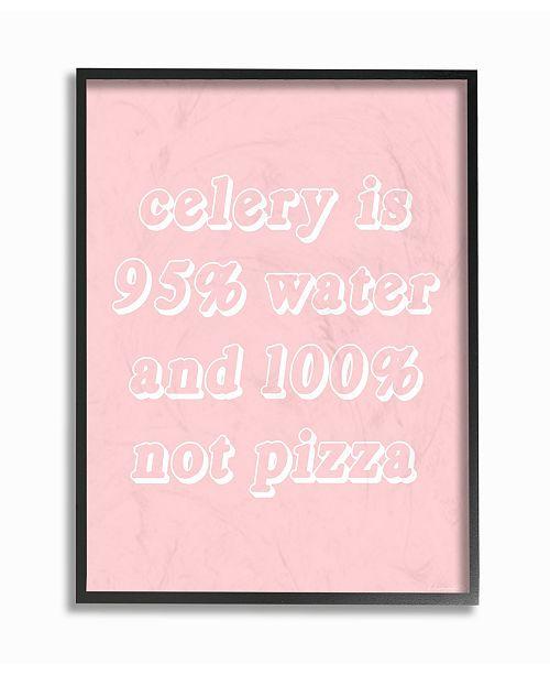 "Stupell Industries Celery- 95% Water 0% Pizza Framed Giclee Art, 11"" x 14"""