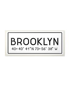 "Stupell Industries Plate City Coordinates Brooklyn Wall Plaque Art, 7"" x 17"""