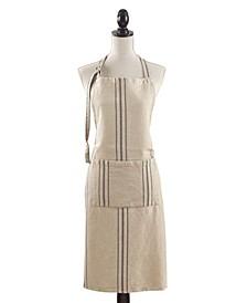 Classic Striped Linen Apron