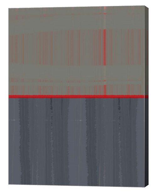 "Metaverse Red Stripe by Naxart Canvas Art, 27"" x 36"""