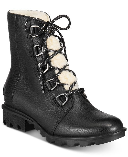 Sorel Women's Phoenix Short Lace Shearling Boots