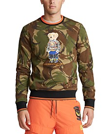 Polo Ralph Lauren Men's Double-Knit Camo Bear Sweatshirt