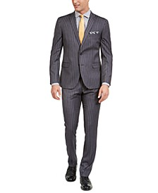 Men's Slim-Fit Performance Stretch Chalk Stripe Suit