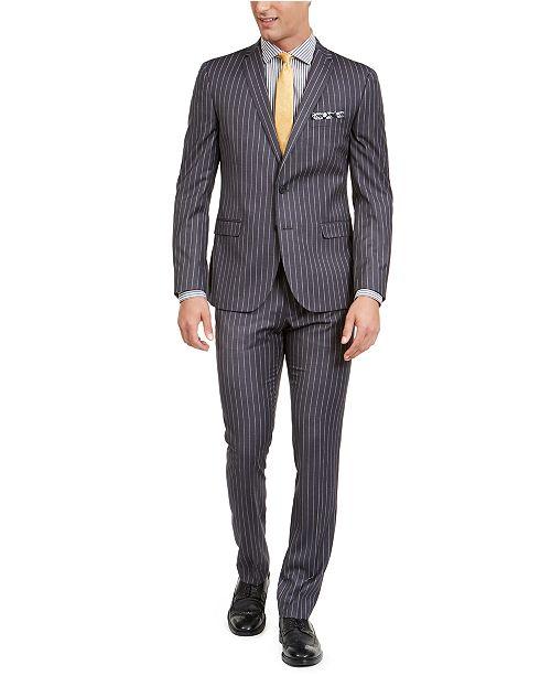 Nick Graham Men's Slim-Fit Performance Stretch Chalk Stripe Suit