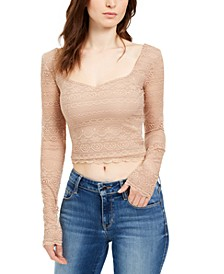 Fitted Cropped Lace Top