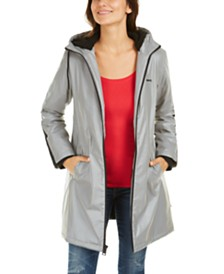 Levi's® Reflective Hooded Rain Jacket with Soft Sherpa Lining