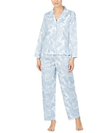 Lauren Ralph Lauren Women's Cotton Printed Pajama Set