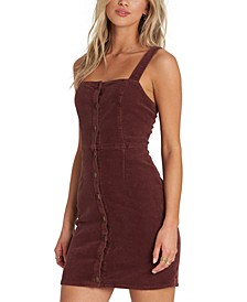 Sweet On You Stretch-Corduroy Pinafore Dress