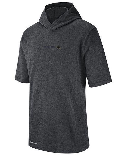 Nike Men's Michigan Wolverines Dri-FIT Hooded T-Shirt