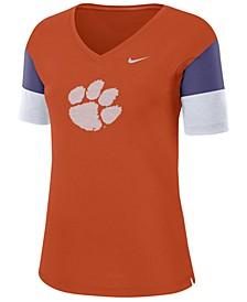 Women's Clemson Tigers Breathe V-Neck T-Shirt