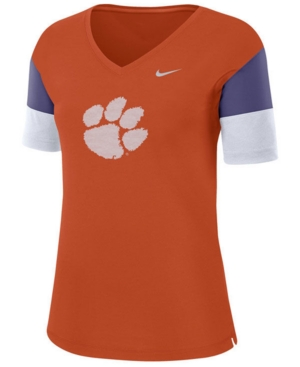 Nike Women's Clemson Tigers Breathe V-Neck T-Shirt