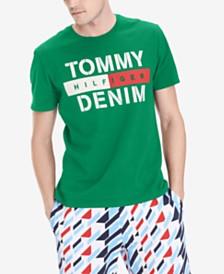 Tommy Hilfiger Denim Men's Feller Logo Graphic T-Shirt