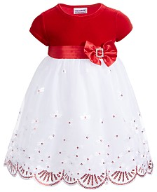 Blueberi Boulevard Toddler Girls Velvet Sequined Dress
