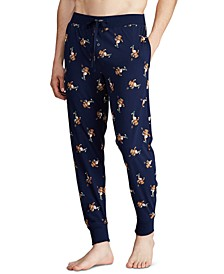 Men's Rugby Bear Pajama Joggers, Created for Macy's