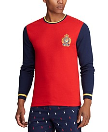 Men's Logo Crest Waffle Pajama Shirt, Created for Macy's