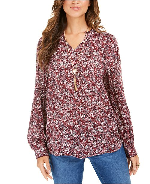 Style & Co Petite Printed Tunic, Created For Macy's