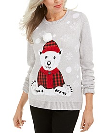 Bear Appliqué Holiday Sweater, Created For Macy's