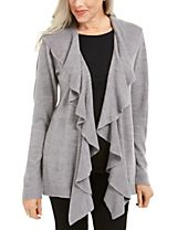 Karen Scott Ruffle-Front Cardigan, Created for Macy's