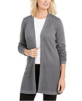 Karen Scott Open-Stitch Cardigan, Created For Macy's