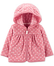 Baby Girls Heart Zip-Up Fleece Cardigan