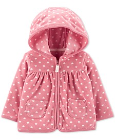 Carter's Baby Girls Heart Zip-Up Fleece Cardigan