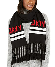 Logo Stadium Scarf With Tassel Fringe