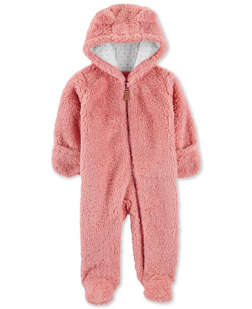 Carter's Baby Girls Sherpa Hooded Bunting