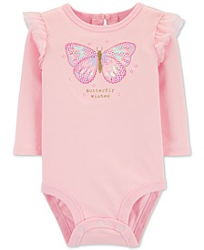 Baby Girls Cotton Butterfly Wishes Bodysuit