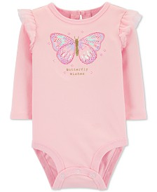 Carter's Baby Girls Cotton Butterfly Wishes Bodysuit