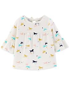 Carter's Baby Girls Cotton Unicorn-Print Top