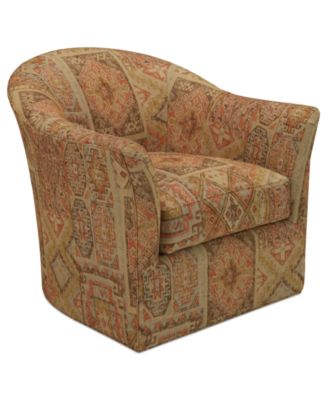 Michelle Fabric Living Room Swivel ChairFurnitureMacys