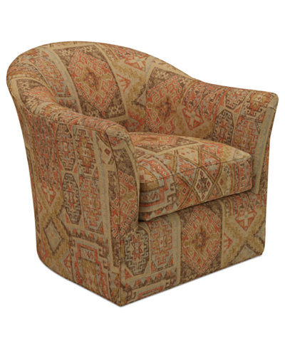 Michelle Fabric Living Room Swivel Chair - Michelle Fabric Living Room Swivel Chair - Furniture - Macy's