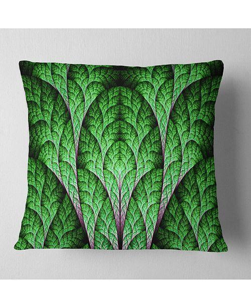 """Design Art Designart Exotic Green Biological Organism Abstract Throw Pillow - 16"""" X 16"""""""