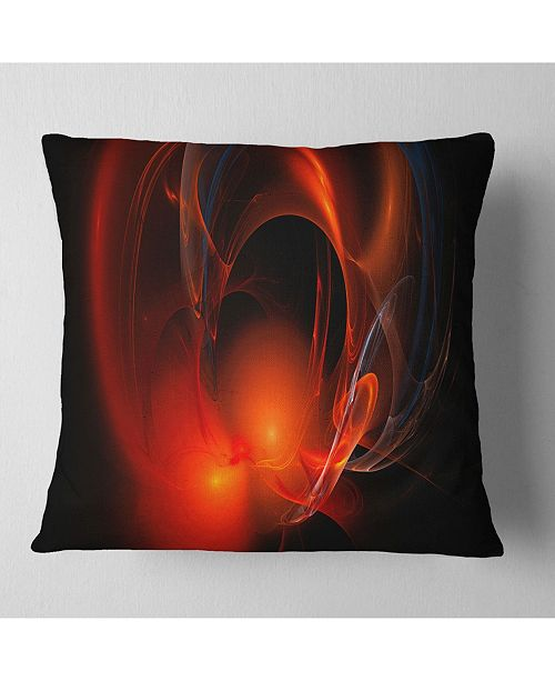 7029436d2ed59 Red Galactic Nebula On Black Abstract Throw Pillow - 18 X 18