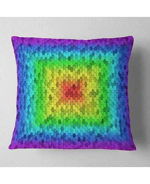"Design Art Designart Random Elevated Hexagon Columns Abstract Throw Pillow - 18"" X 18"""